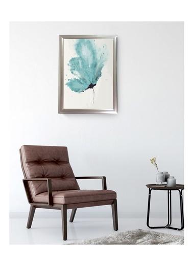 Lyn Home & Decor Patlayan Mint Çerçeveli Poster Tablo 33.5X43,5 Gümüş